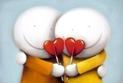 Sweethearts (Export) by Doug Hyde -  sized 22x15 inches. Available from Whitewall Galleries